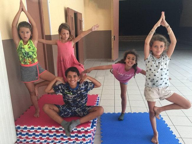 cours de yoga pour enfants plan d'aups